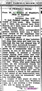 January 12, 1927, Fort Fairfield Review